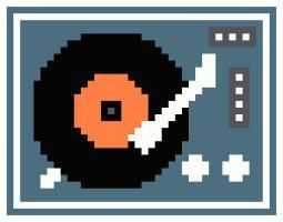 Turntable By Kanitted Cross Stitch Music Cross Stitch