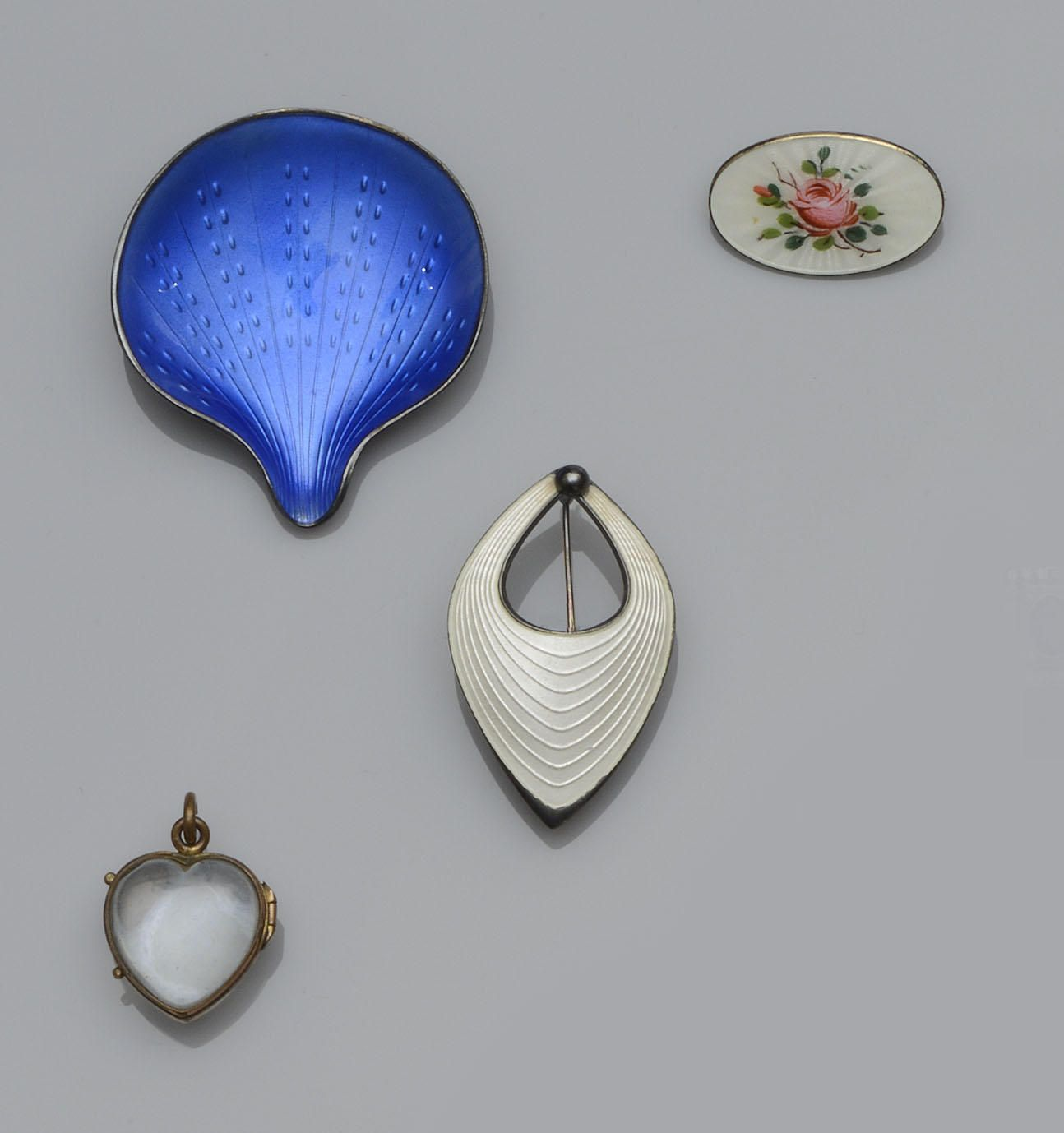 Three Scandinavian Enamel Brooches And A Collection Of Jewellery 8 Scandinavian Jewelry Enamel Brooch Jewelry