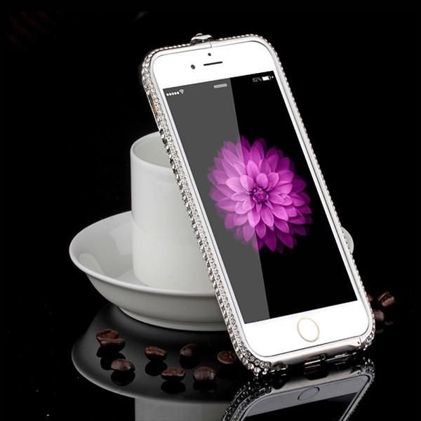 7 Luxury Rhinestone Diamond Case For Apple iPhone 7 7 Plus Bling Crystal Crown Aluminum Metal Bumper Frame Protective Cover Capa