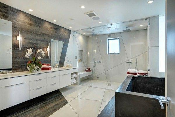 Laminat an die Wand bringen und für ein stilvolles Wanddesign sorgen - wandgestaltung im badezimmer