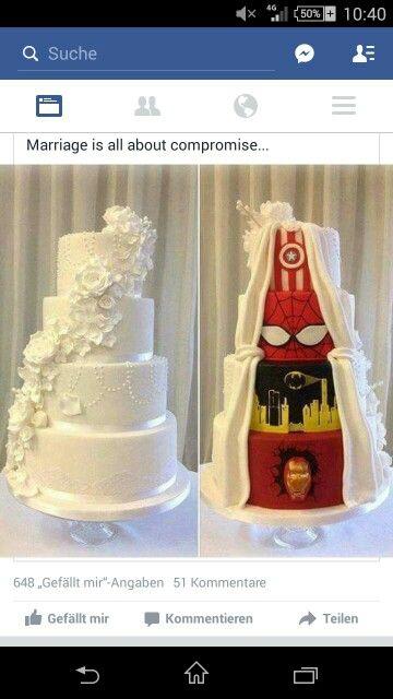 Hochzeitstorte Superheld Hochzeit Pinterest
