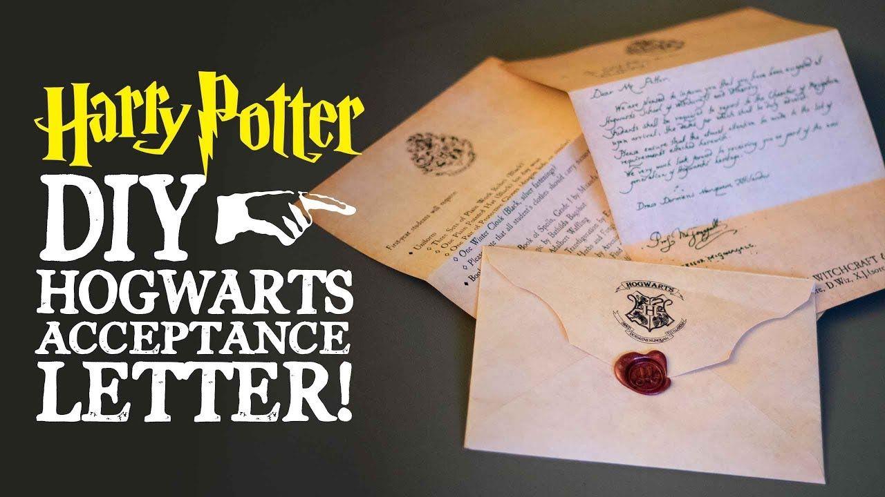 Harry Potter Letter Hogwarts Acceptance Letter Harry Potter Acceptance Letter Harry Potter Diy