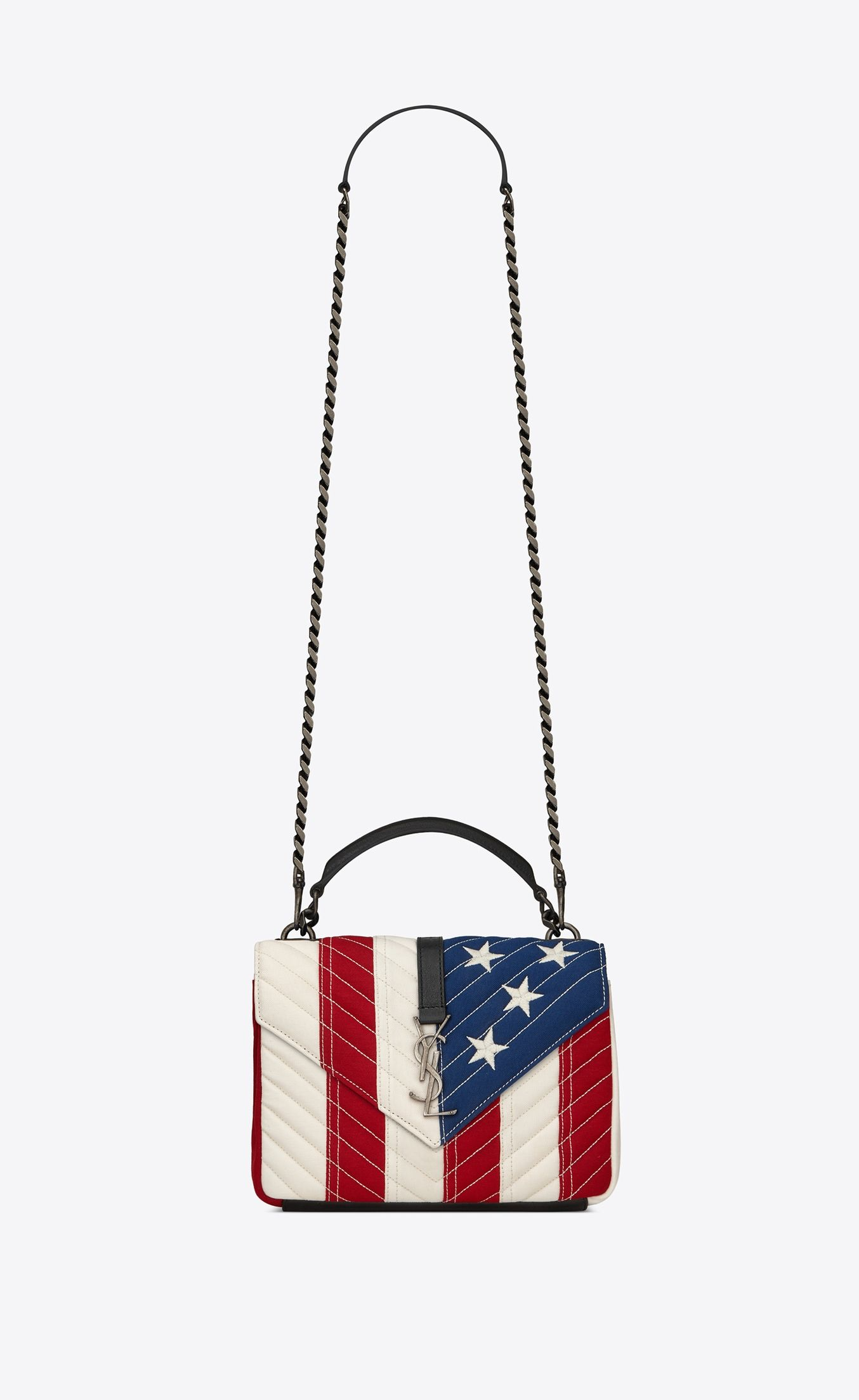 "7a39b45d4bec52 College Medium bag in ""American Flag"" patchwork fabric in 2019 