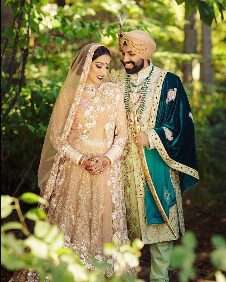 This wedding photo is all the feels. Punjabi wedding