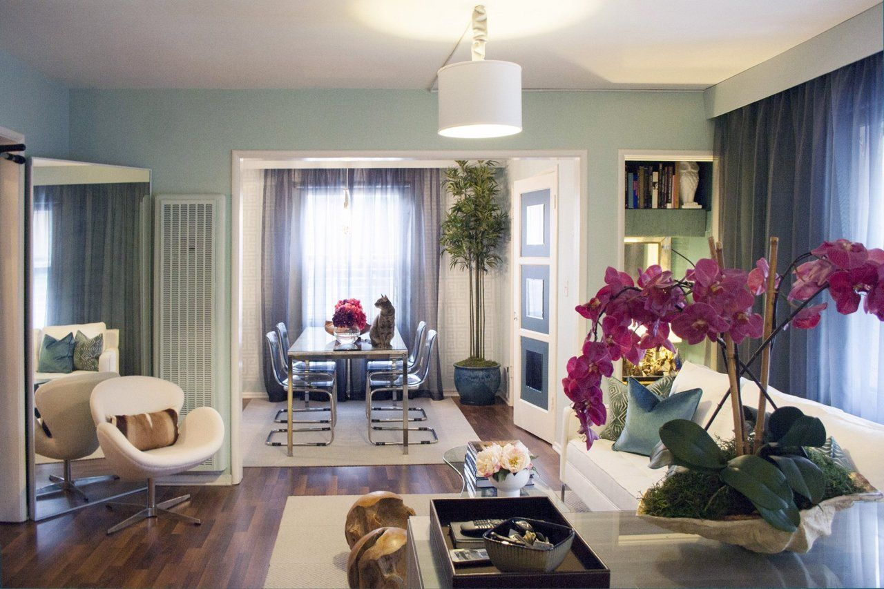a small but glamorous west hollywood studio apartment solutions pinterest. Black Bedroom Furniture Sets. Home Design Ideas