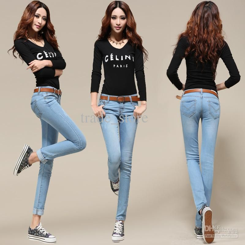 2017 Hot Fashion Sexy Lady Jean Women's Jean Skinny Jean Slim ...