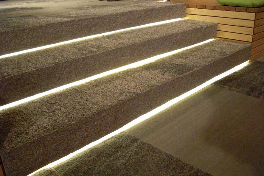 Recessed Garden Floor Light Linear Line Staub Designlight Ag Outdoor Stair Lighting Stair Lighting Step Lighting Outdoor