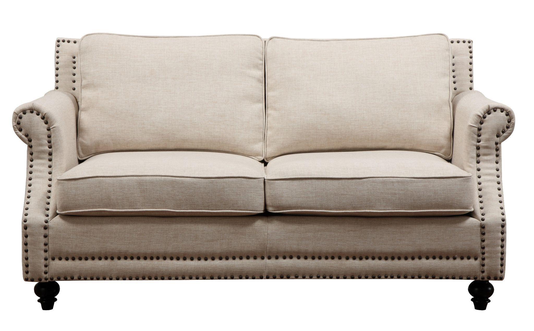 Camden Beige Linen Loveseat Love Seat Linen Sofa Home Decor Styles