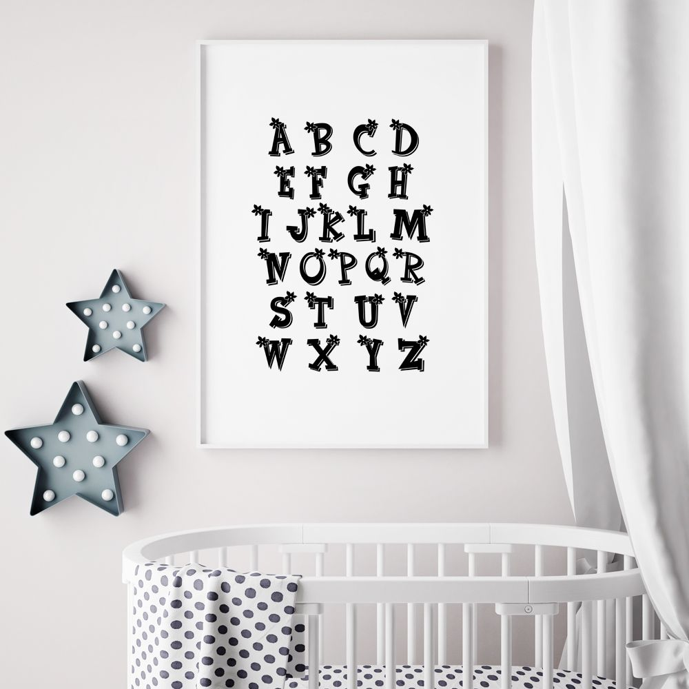 Nursery Wall Art Kids Room Decor Alphabet Nursery Print Alphabet Abc Poster Abc Wall Art Print Alphabet Nursery Decor Abc Nursery Decor Nursery Wall Decals