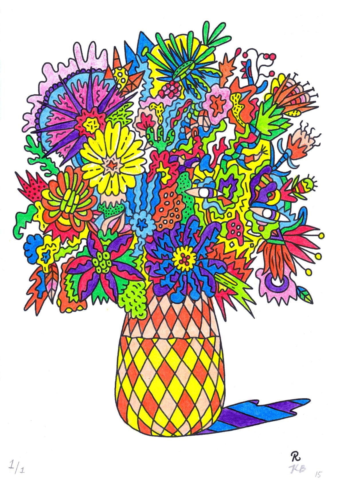 Colouring Book for Grown Ups - Rudi de Wet Studio