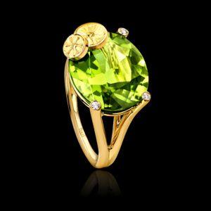 Yellow gold Peridot Diamond Ring G34H1200 - Piaget Luxury Jewelry Online