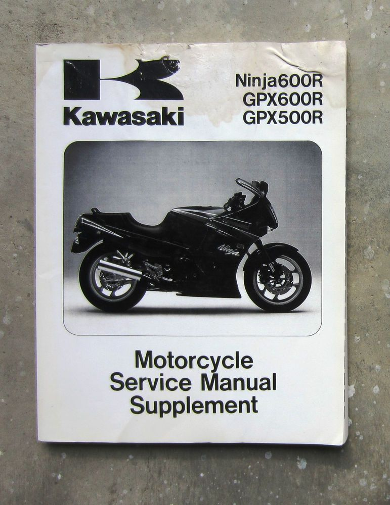 Kawasaki Gpx600r Workshop Service Repair Manual Supplement Gpx 600 Ninja Zx600 Kawasaki Repair Manuals Repair Kawasaki