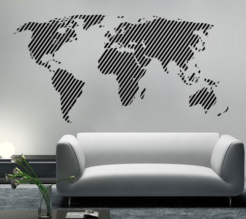 Modern urban and contemporary diagonal world map wall decals modern urban and contemporary diagonal world map wall decals home wallart decals gumiabroncs Images
