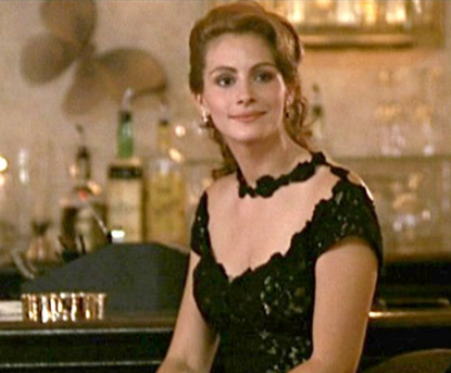 Black lace dress in pretty woman