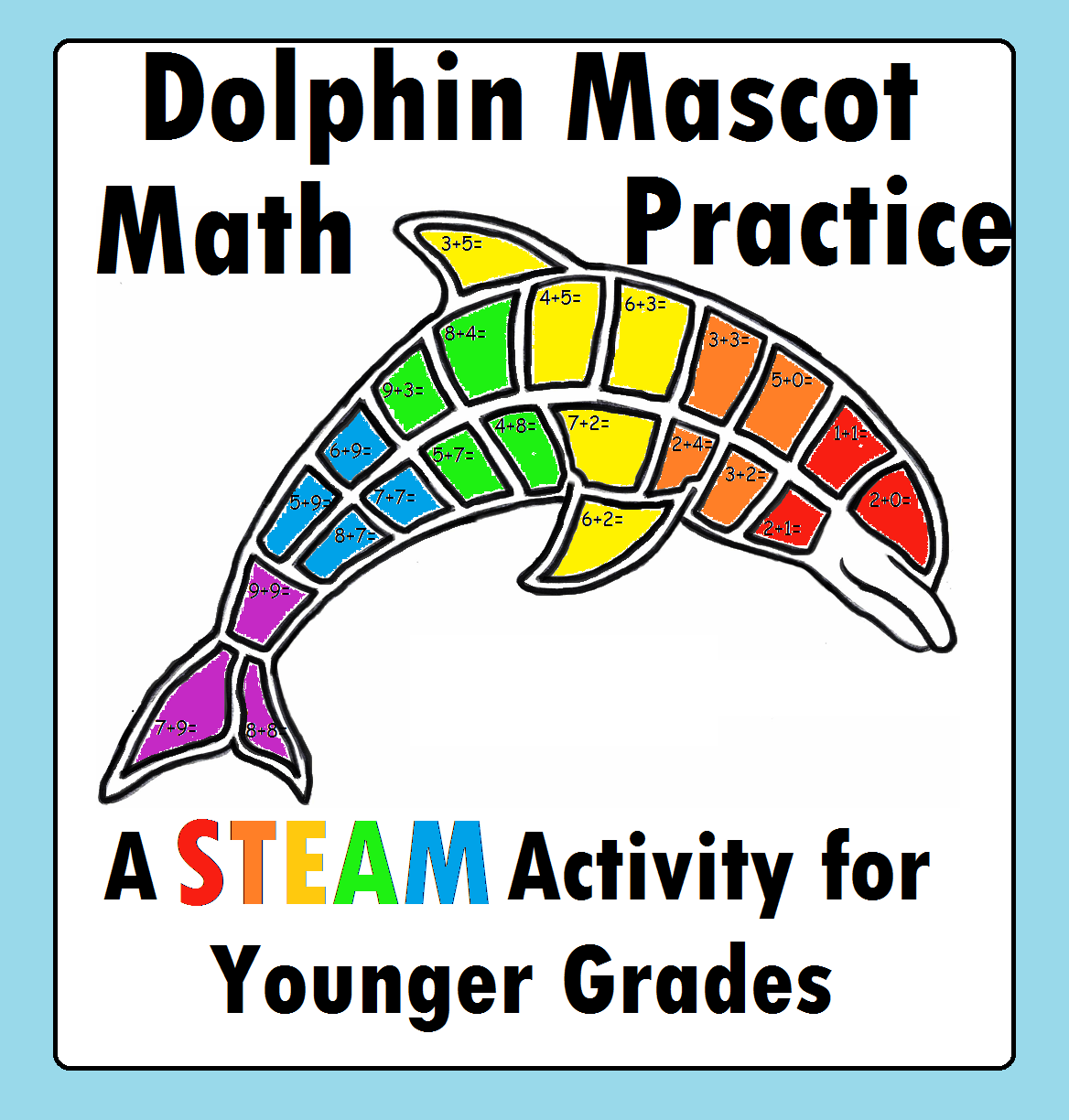 Dolphin Math Distance Learning Addition Page Mascot