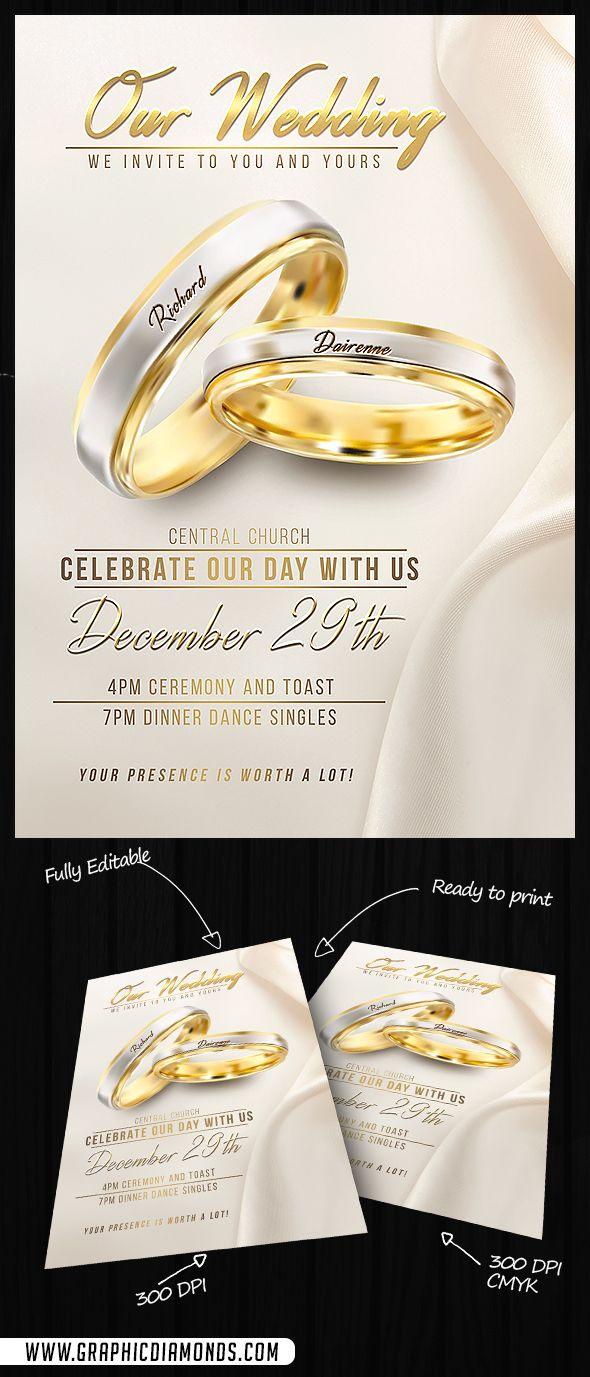 Wedding Flyer Psd Template By Graphicdiamonds On Creative Market