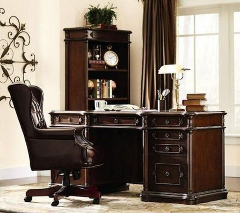 35 Best Office Desk Decoration Ideas Home Home Office Furniture Traditional Office Chairs