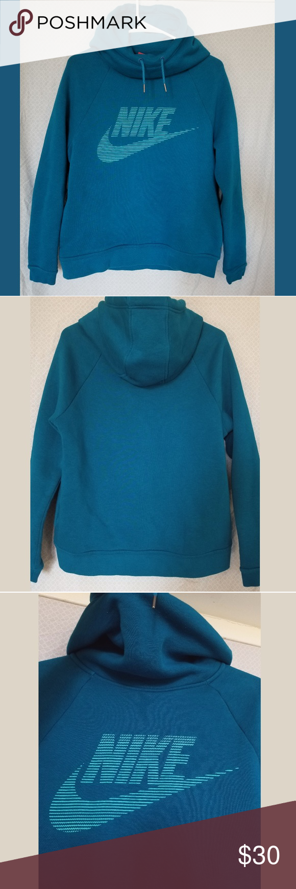 Blue Aqua Nike Hoodie Size Small Good Condition Only Worn A Few Times Inside Is Lined With Soft Warm Material Pockets O Nike Hoodie Clothes Design Hoodies [ 1740 x 580 Pixel ]