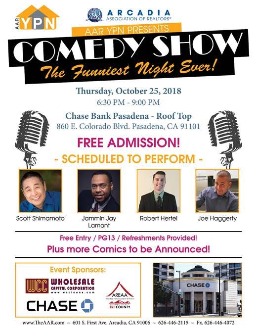 Mark Your Calendars For Our Aar Ypn Comedy Night Tomorrow From 6 30 9pm At Chase Bank Ypn Realtors Carypn Carealtors Fre Comedy Nights Comedy Comedy Show