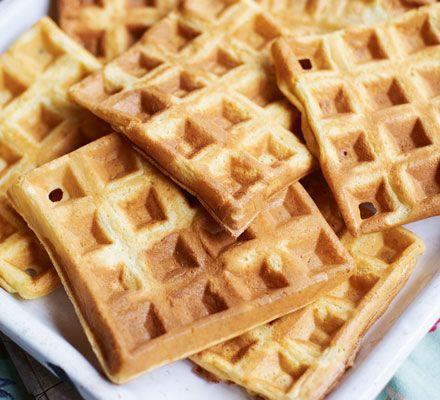 Waffles Recipe Bbc Good Food Recipes Easy Homemade Waffle Homemade Waffles