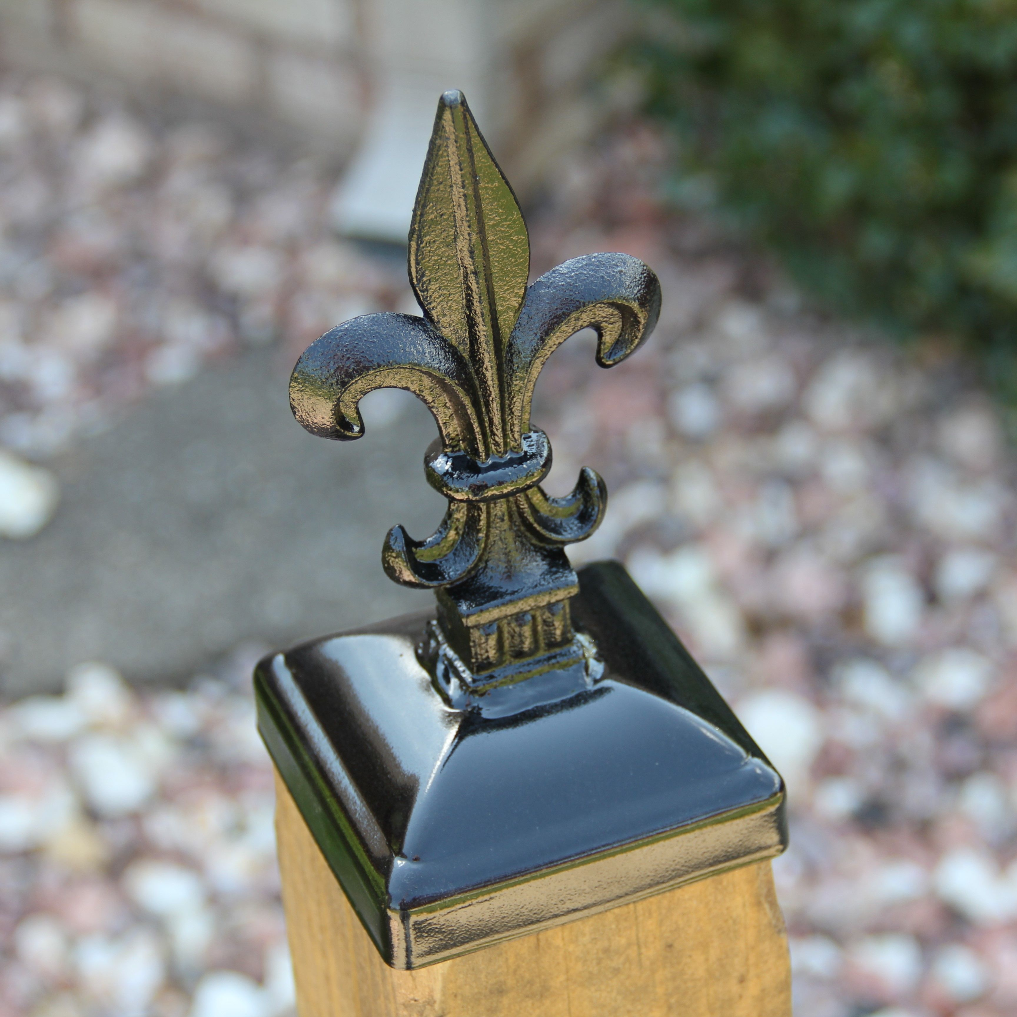 """2/""""x2/"""" Ornamental Post Cap for 2/"""" Wrougt Iron Post WROUGHT IRON FENCE POST CAP"""