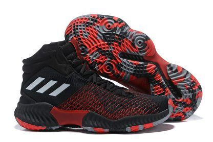 d4cf4537f4796 adidas Pro Bounce 2018 Black University Red-White For Men in 2019 ...