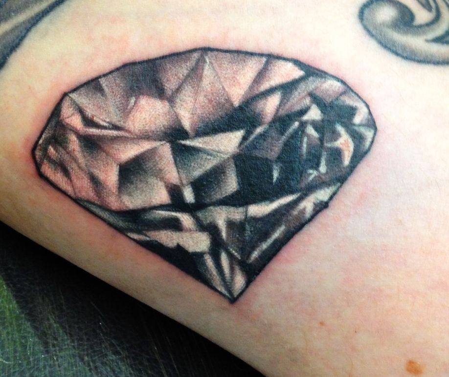 Black Grey Diamond Tattoo By Browns Tattoos Www Brownstattoo Co Uk Browning Tattoo Tattoos Diamond Tattoos