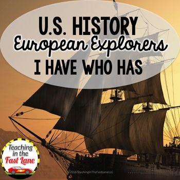 Photo of European Explorers I Have Who has  (U.S. History)