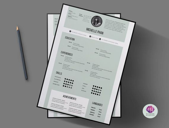 Page Cv Template Cover Letter Template By Chictemplates  Resume