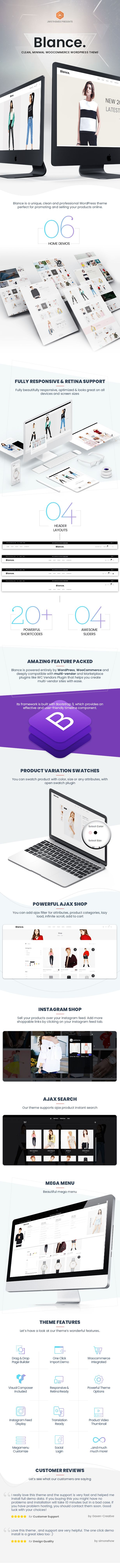 Blance is a unique clean and professional WordPress theme perfect