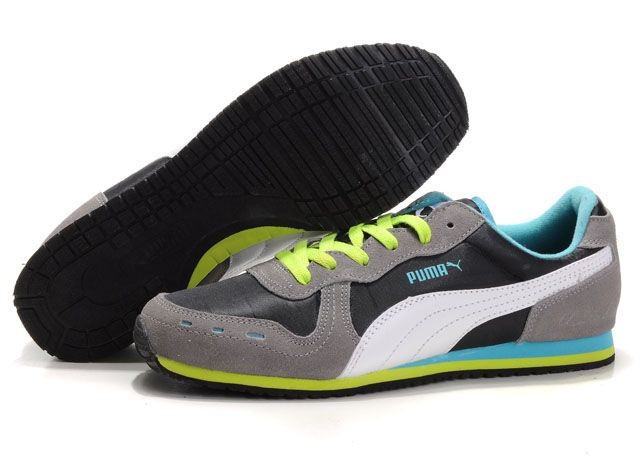 Mens Puma Bolt Shoes 1011 With Gray Yellow Black shoes for sports