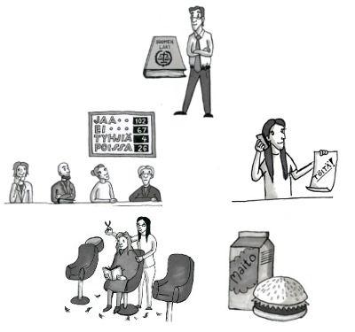 Miten äänestetään? Mitä lukee työsopimuksessa? Testaa tietosi yhteiskunnan toiminnasta verkkotehtävillä, jotka perustuvat Oppimateriaalikeskus Opikkeen Yhteiskunta-kirjasarjaan.