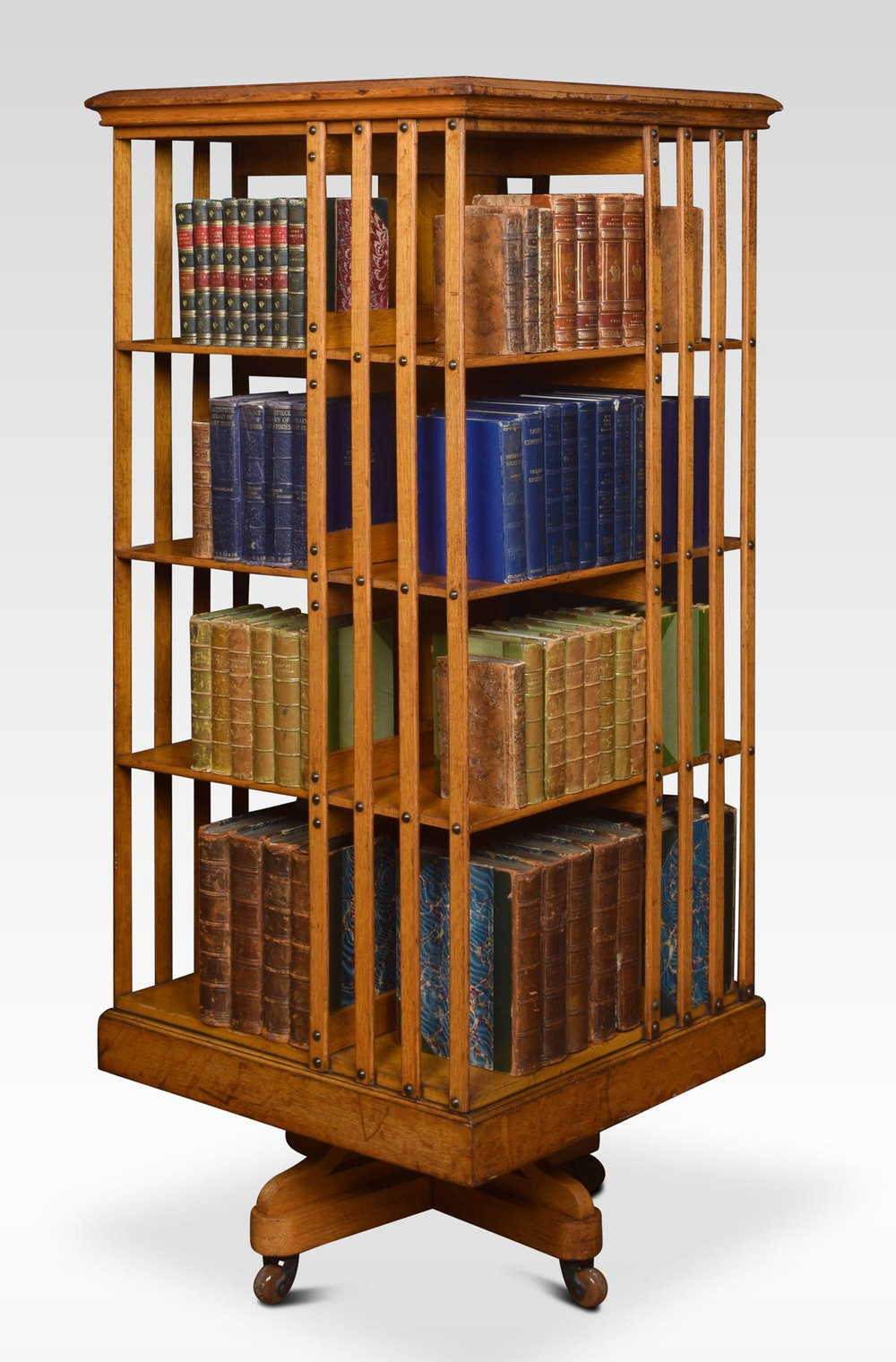 Large Oak Revolving Bookcase Antiques Atlas Revolving Bookcase