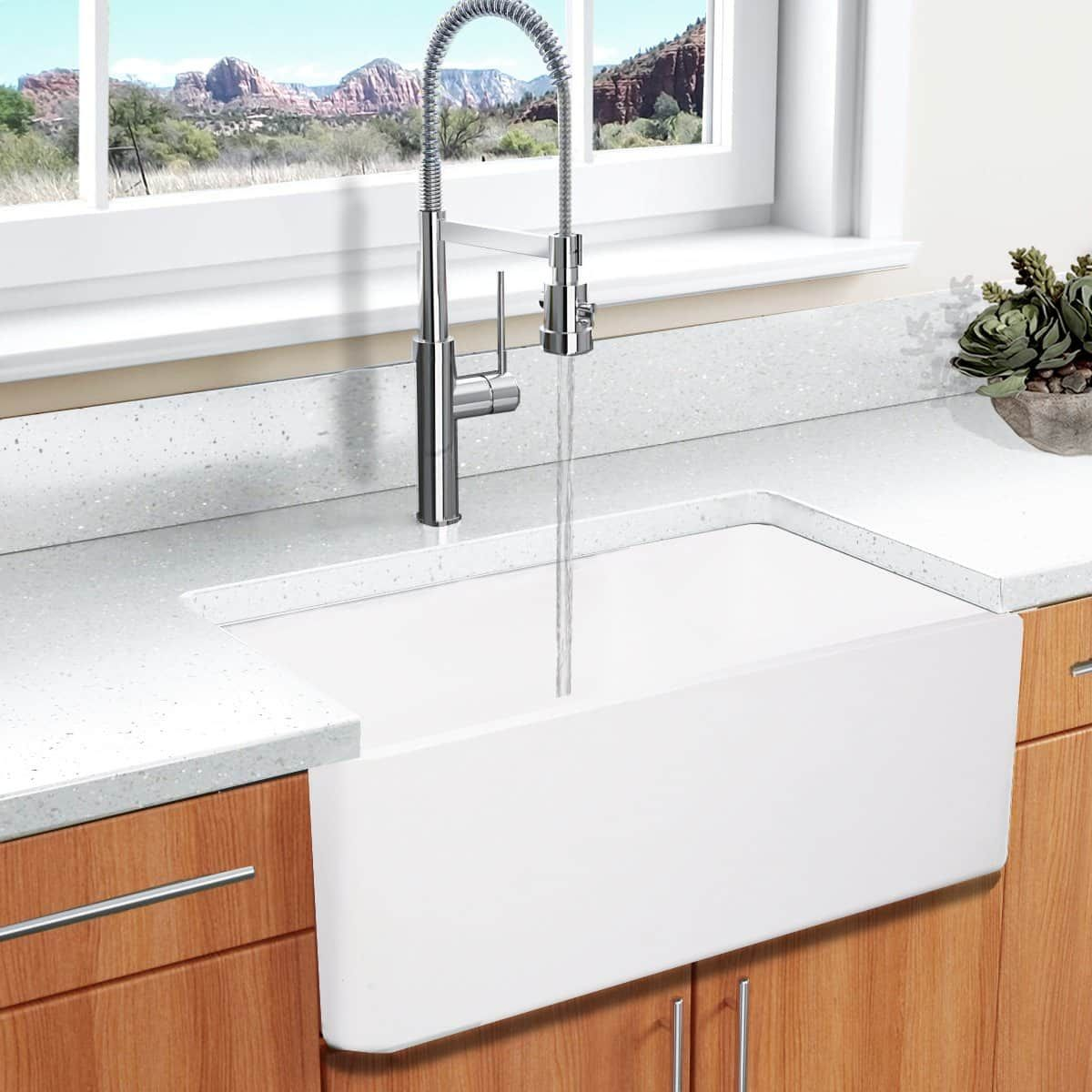 Highpoint Collection White 30 Inch Solid Surface Reversible