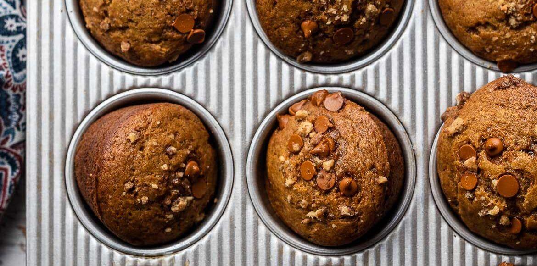 Cinnamon chip and walnut pumpkin muffins kitchen
