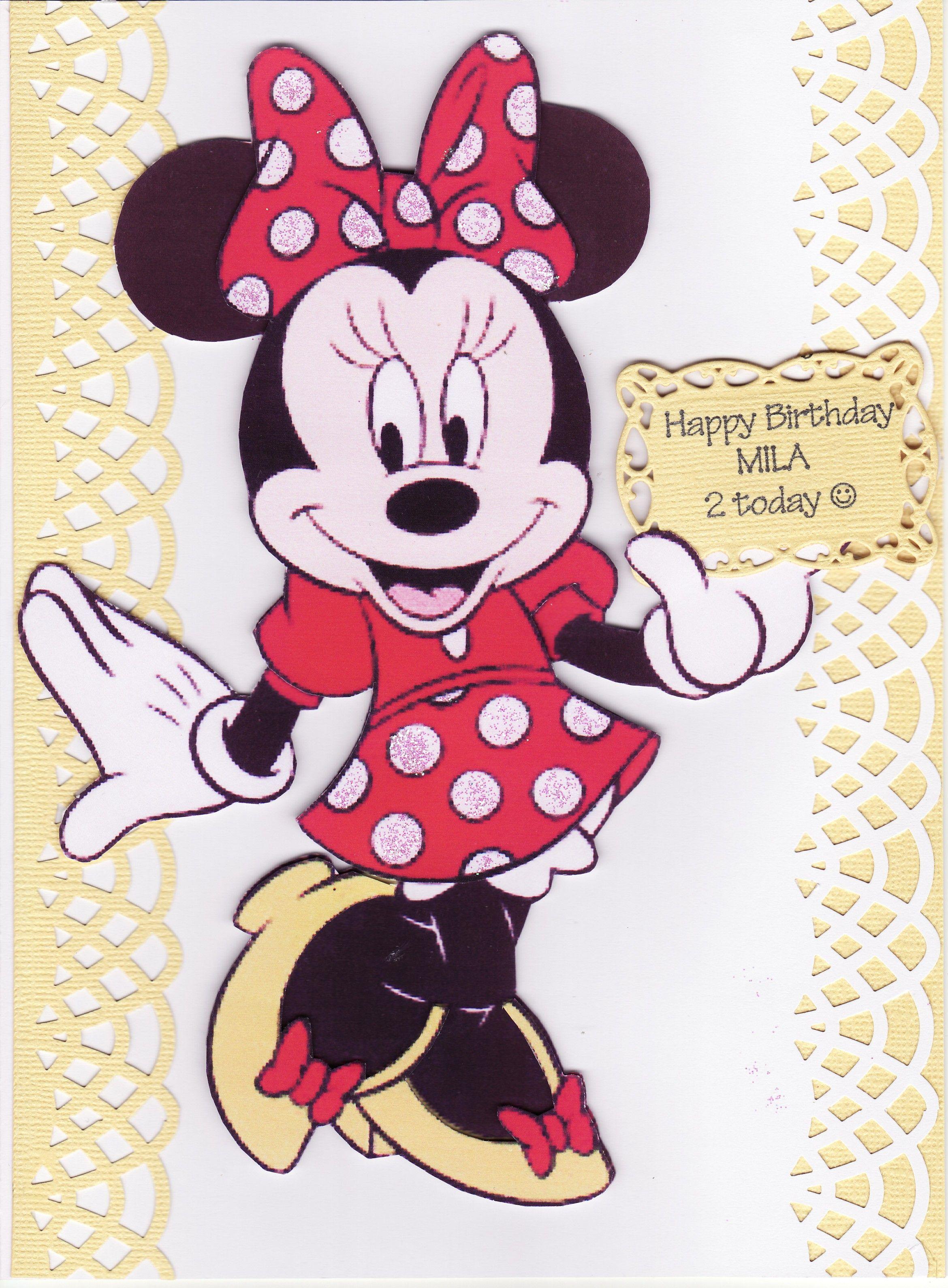 3D Minnie Mouse Birthday Card