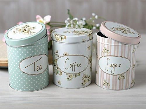 Seattle Tea Coffee Sugar Set of 3 Kitchen Storage Canisters