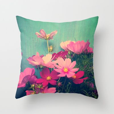 pink cosmos throw pillow by olivia joy stclaire dorm decor home