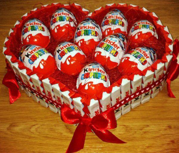 Herz Aus Kinderschokolade New Pinterest Gifts Candy Gifts Und