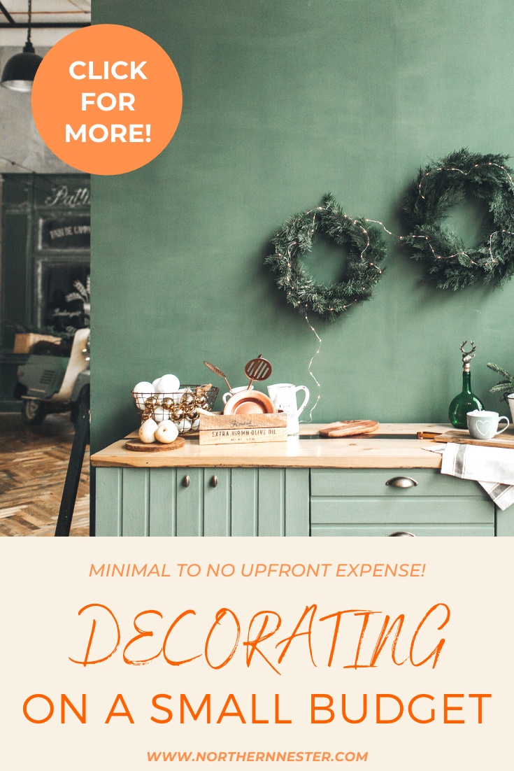 These ideas for decorating on a small budget will have you home interior looking extremely stylish in no time at all! Perfect for families on a budget, these ideas are fantastic for everyone! #decoratingonabudget #budgethomedecorating #homedecoratingideas