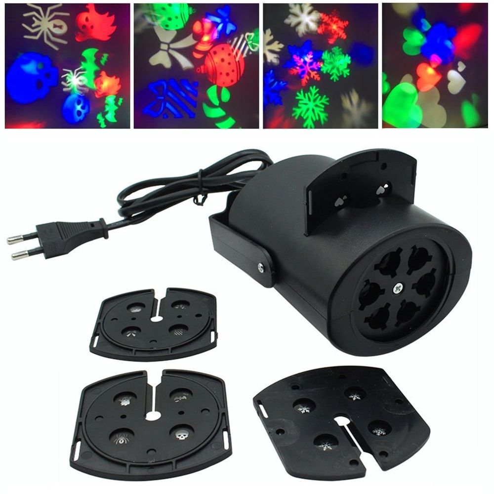 Mini projecteur lumi¨re de la sc¨ne led club multicolore neige disco