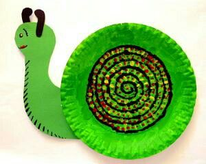 Paper plate snails | Art and craft for classrooms | Pinterest ...