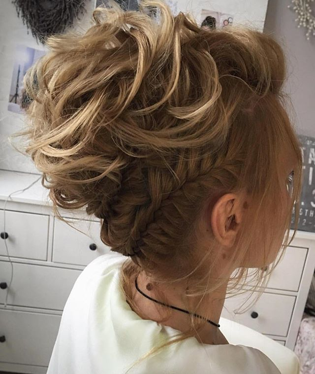 Amazing braid and textured updo