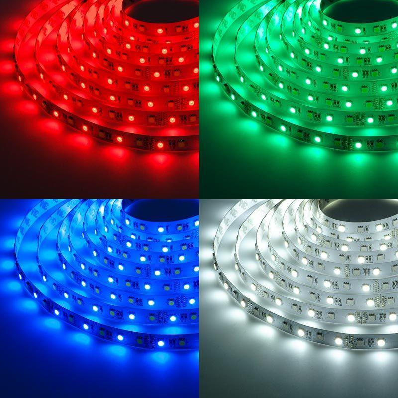 5m Rgb W Led Strip Light Color Changing Led Tape Light 12v 24v Ip20 Led Tape Lighting Led Strip Lighting Flexible Led Strip Lights