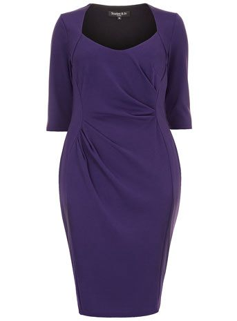 This is a beautiful color for all skin tones Purple Round Neck