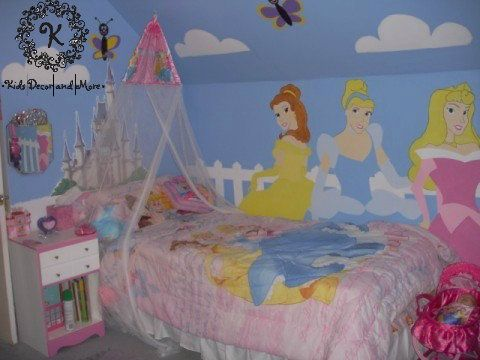 Disney Princess Wall Mural Custom Design Hand Paint Girls Bedroom Part 78
