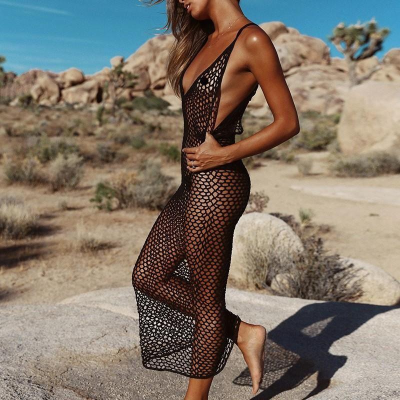 a9cbfe97d55f2 Trendy Crochet Beach Cover Up a la Beach Kaftan Dress in 2019 ...