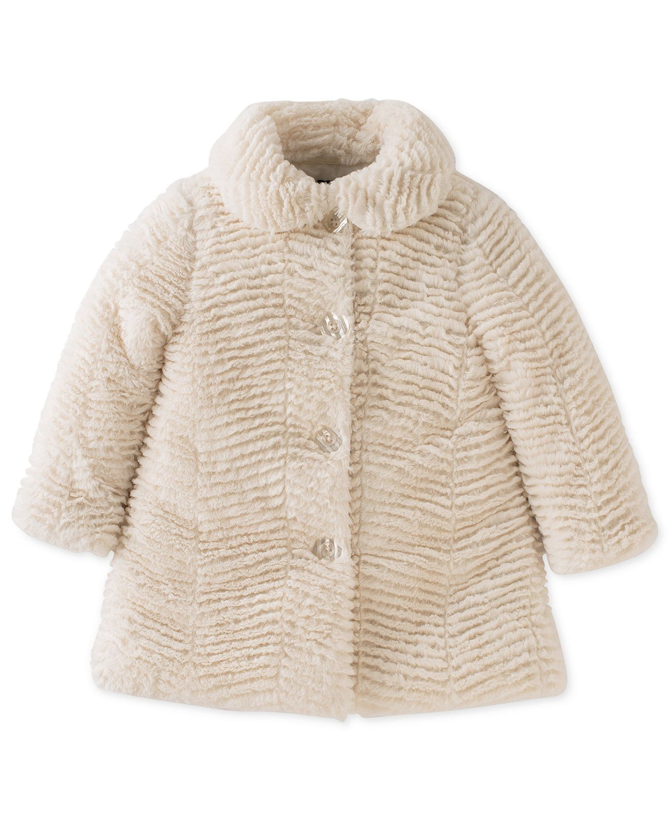 Calvin Klein Baby Girls' Faux-Fur Coat - Baby Girl (0-24 months ...