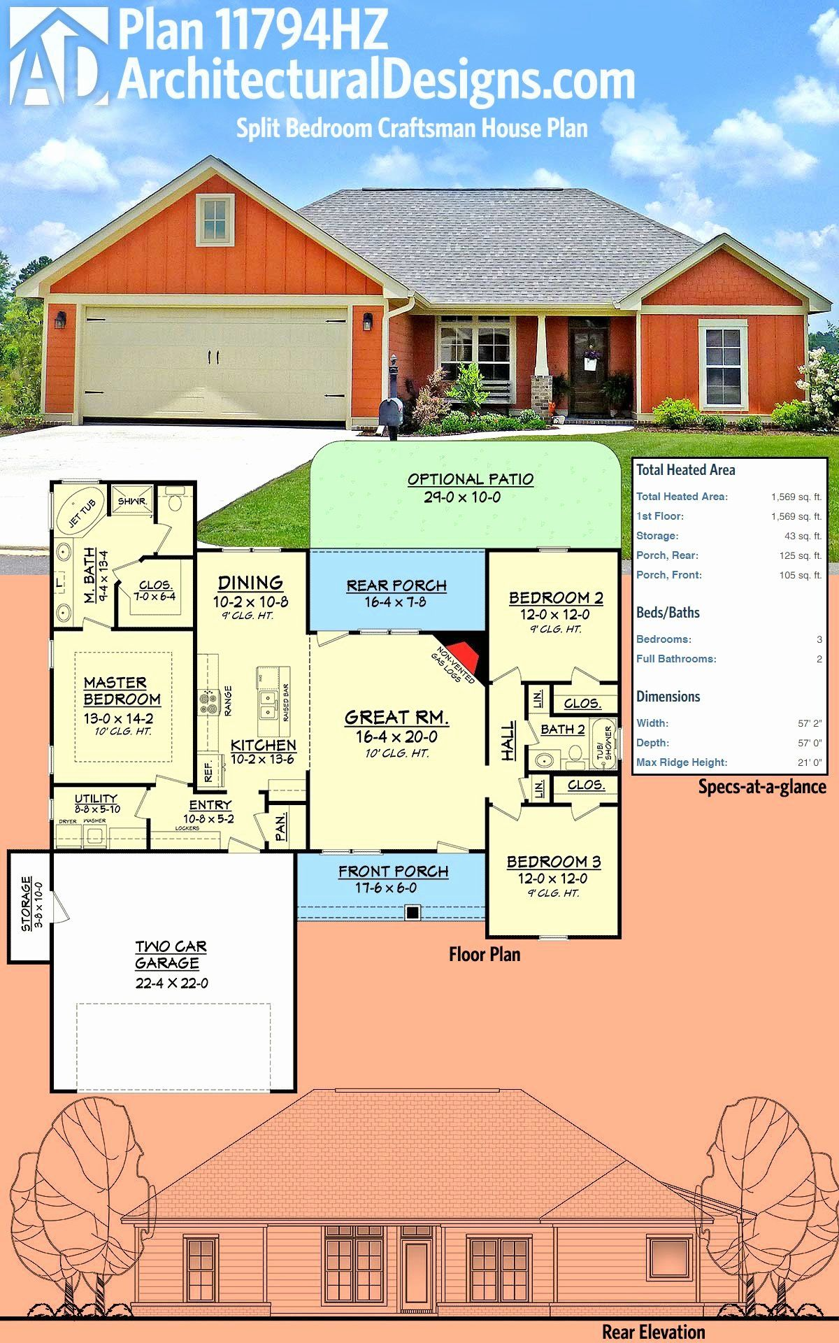 Split Bedroom House Plans Awesome 87 Best House Plan Ideas Images In 2020 In 2020 Craftsman House Craftsman House Plans House Plans