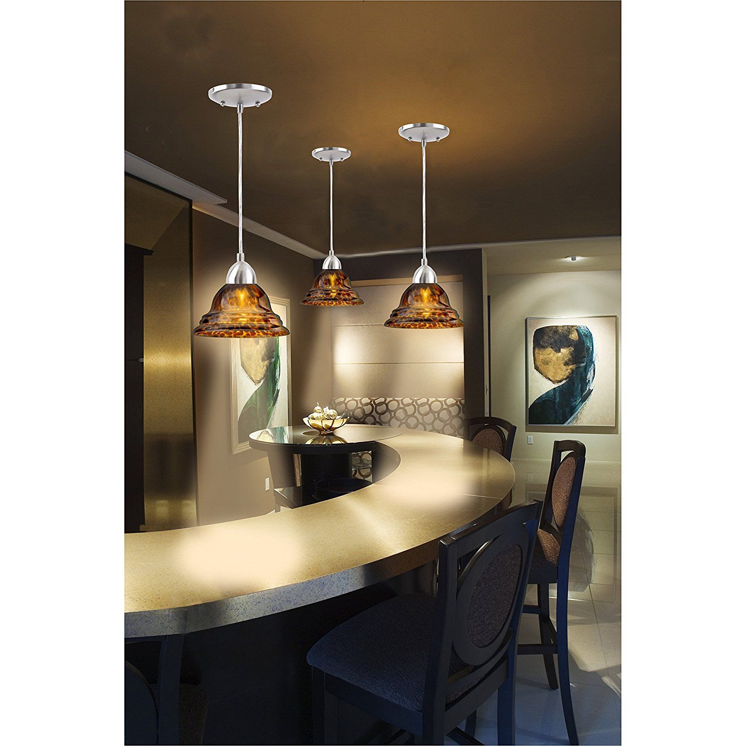Kitchen pendant lighting over sink and table interior designs arts